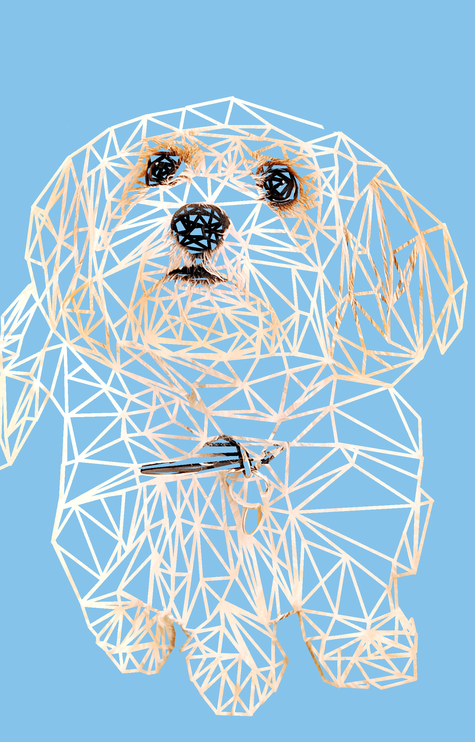 jeff the dog mosaic