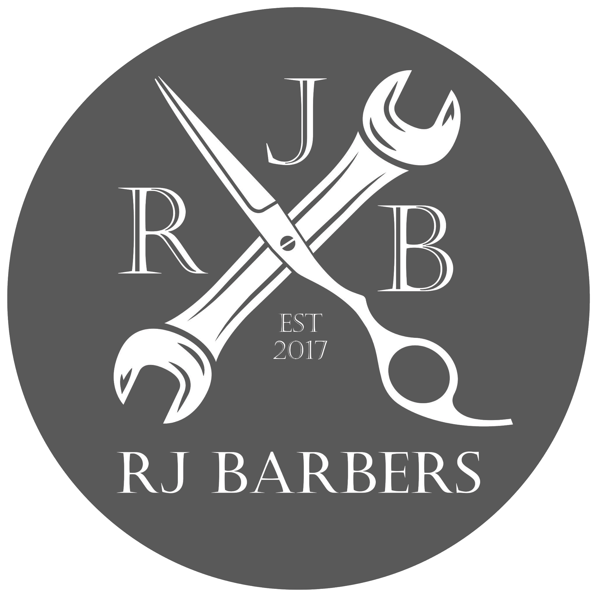 rjbarbers.co.uk logo james milton