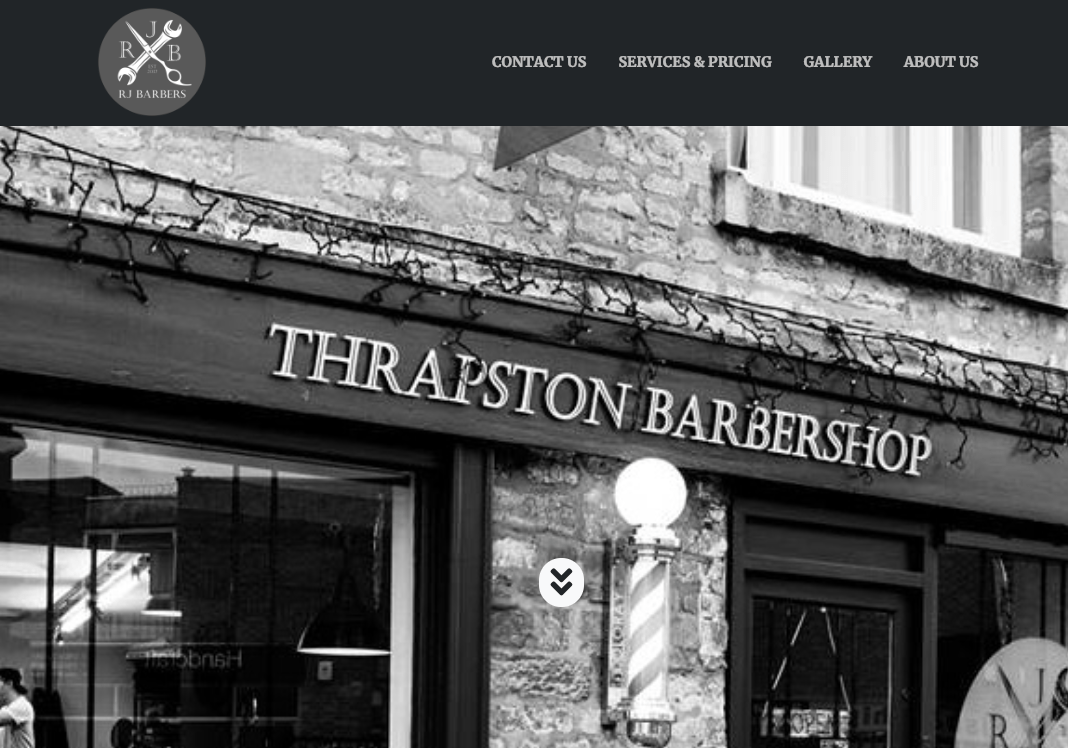 rjbarbers.co.uk website screenshot