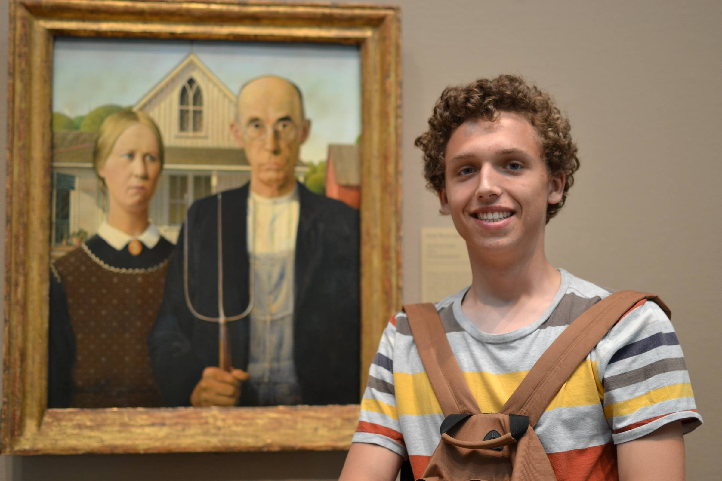 American Gothic. The security guard told me that I looked too happy for that photo